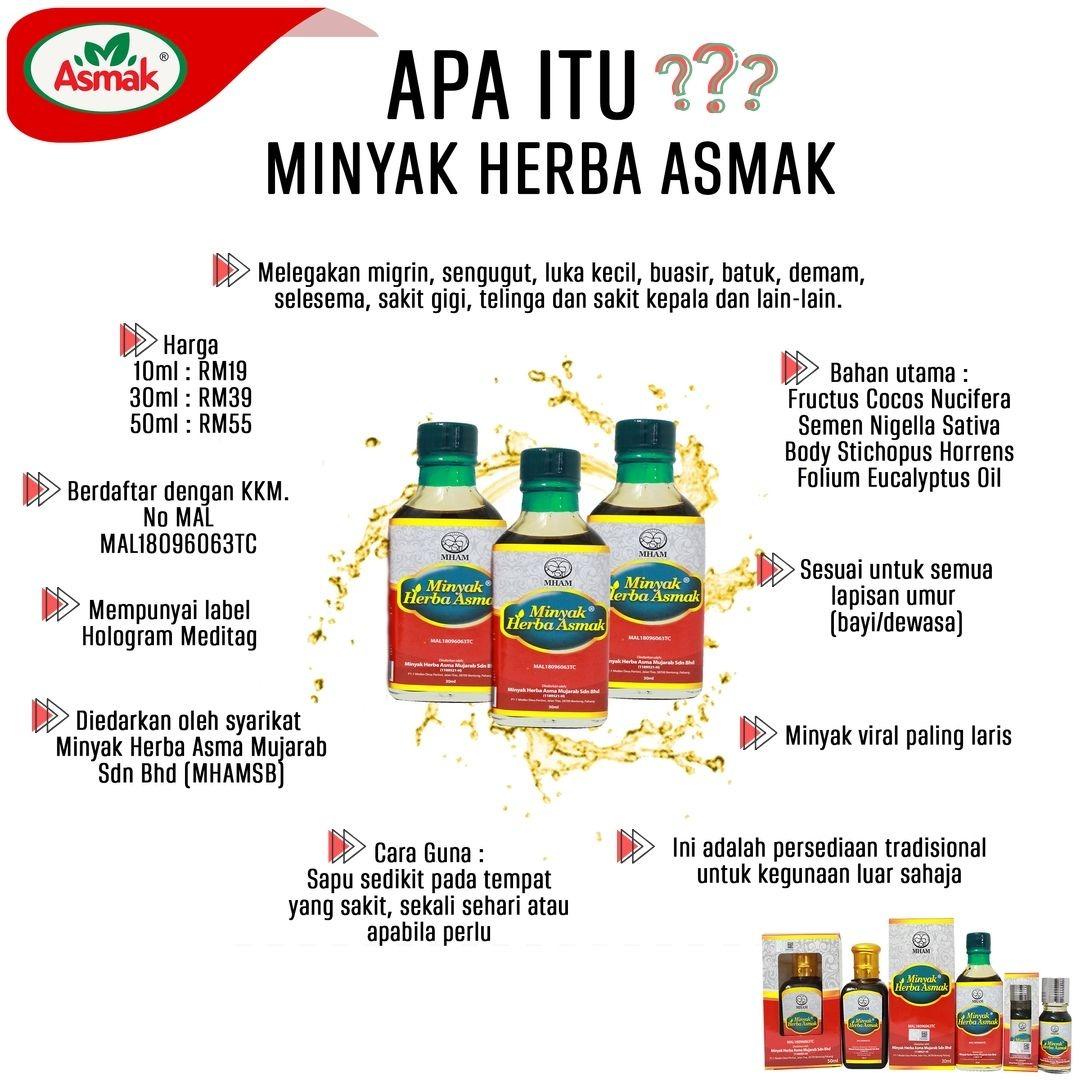 Minyak Herba Asmak Original Selamat